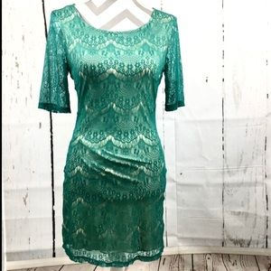 New Accidentally In Love Body Contour Lace Dress